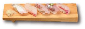 おすすめ鮮魚5種盛り  830円(税込)